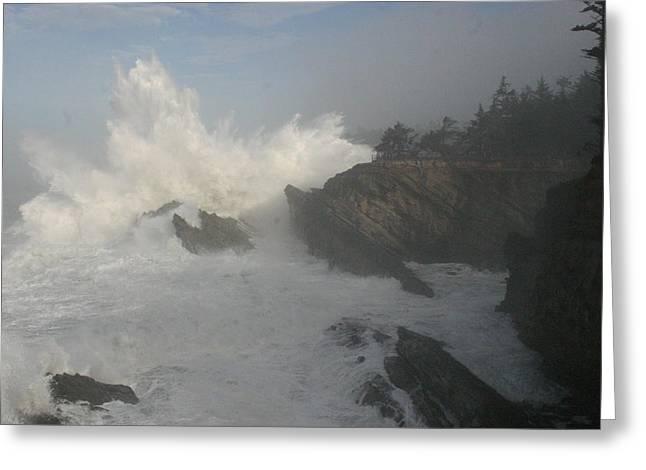 Wild Oregon Coast Greeting Card by James Thompson