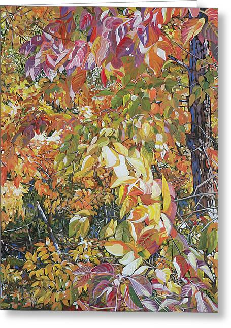 Wild Persimmon 4 Greeting Card by Nadi Spencer