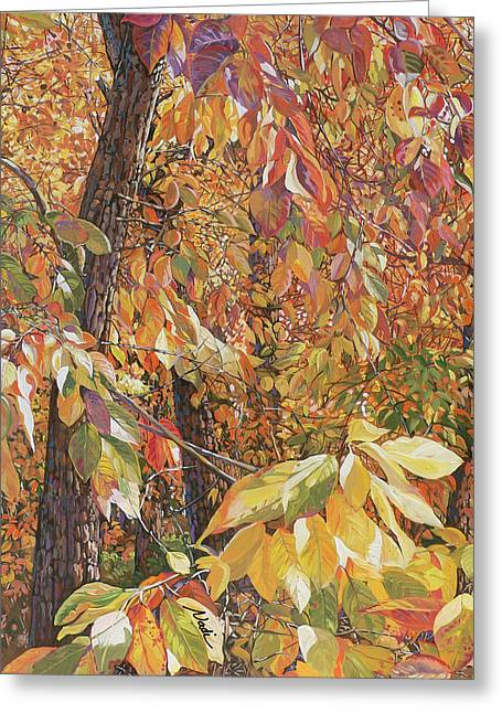 Wild Persimmon Trees Greeting Card by Nadi Spencer