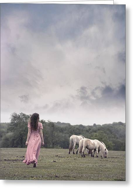 Wild Ponies Greeting Card by Joana Kruse