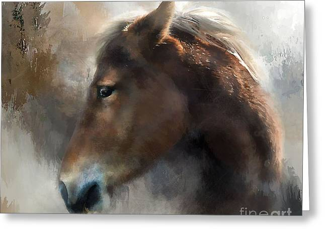 Wild Pony Greeting Card by Kathy Russell