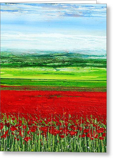 Wild Poppies Corbridge Northumberland 2009 Greeting Card by Mike   Bell