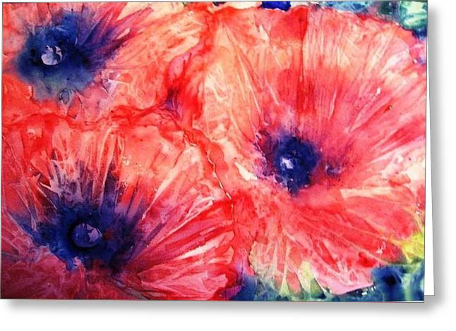 Wild Poppies Greeting Card by Trudi Doyle