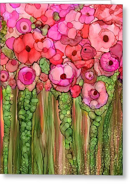 Wild Poppy Garden - Pink Greeting Card