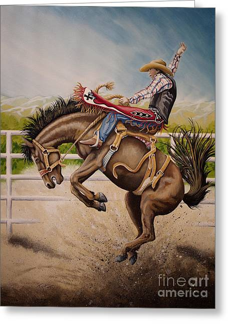 Wild Ride Bronc Greeting Card
