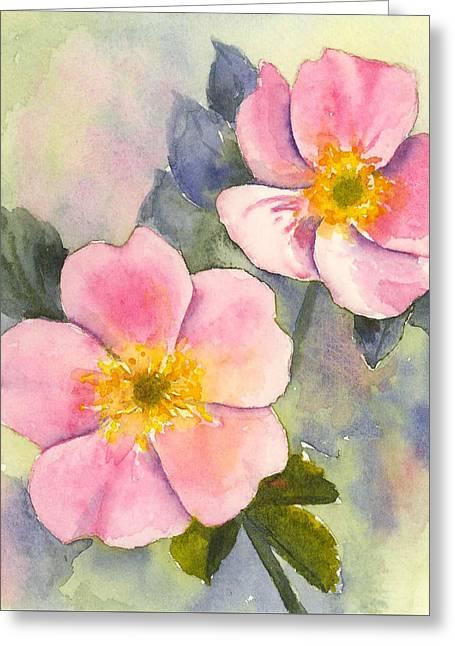 Wild Roses - Glacier Greeting Card