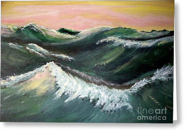 Wild Sea Greeting Card by Carol Grimes