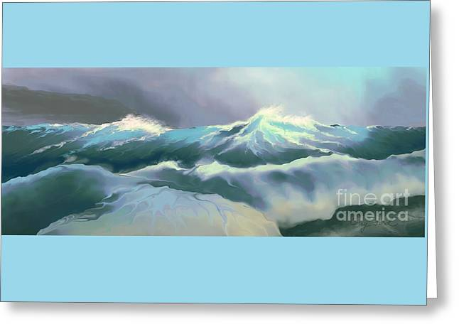 Wild Sea Greeting Card by Corey Ford