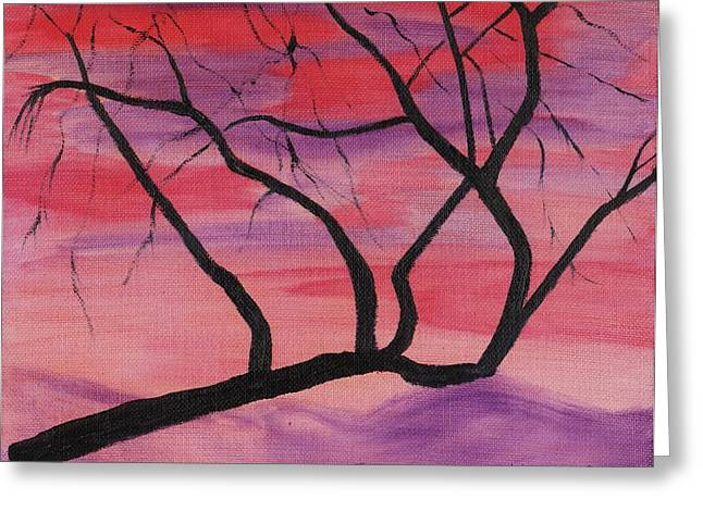 Wild Sky And Tree Greeting Card by Suzanne  Marie Leclair