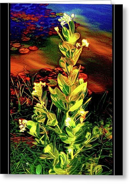 Wild Thai Lake Jasminum - Photo Painting Greeting Card by Ian Gledhill