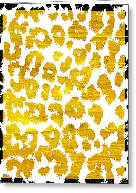 Wild Thing Leopard Pattern Greeting Card