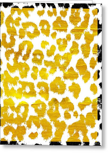 Wild Thing Leopard Pattern Greeting Card by Mindy Sommers