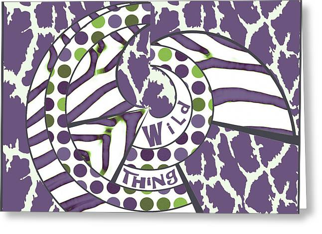 Greeting Card featuring the digital art Wild Thing by Methune Hively