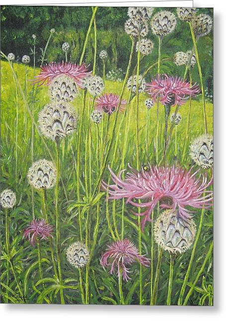 Wild Thistles Greeting Card