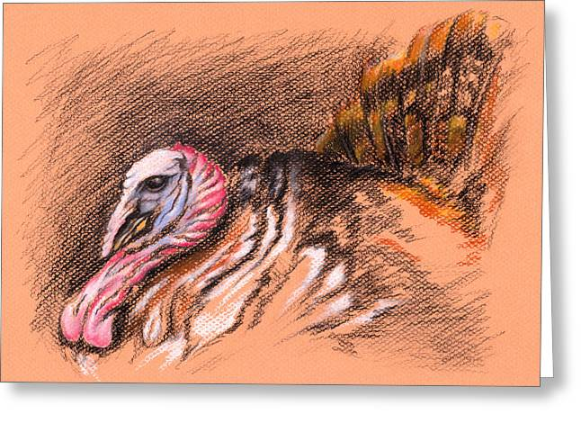 Wild Tom Turkey Greeting Card by MM Anderson