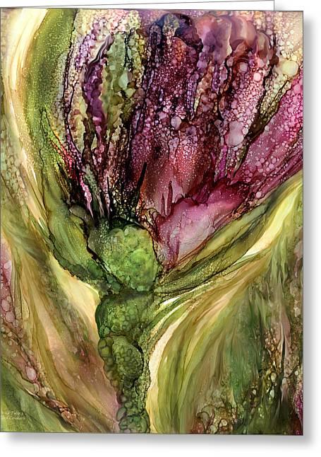 Wild Tulip 3 Greeting Card by Carol Cavalaris