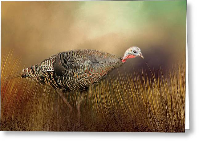 Greeting Card featuring the photograph Wild Turkey Hen by Donna Kennedy