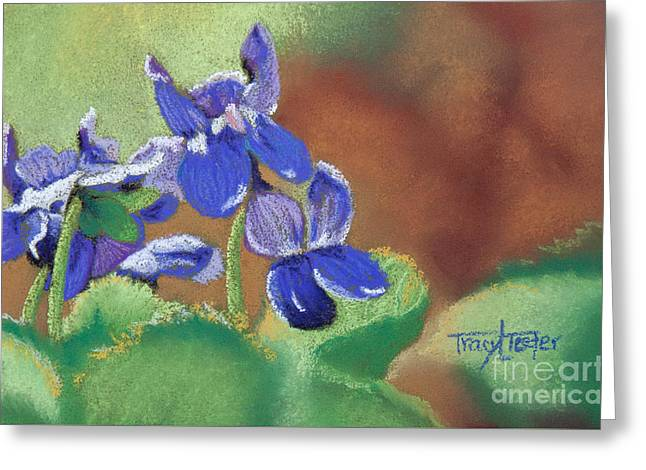 Wild Violets Greeting Card by Tracy L Teeter