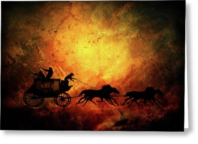 Wild Wast Cowboy Chaise Greeting Card by Lilia D