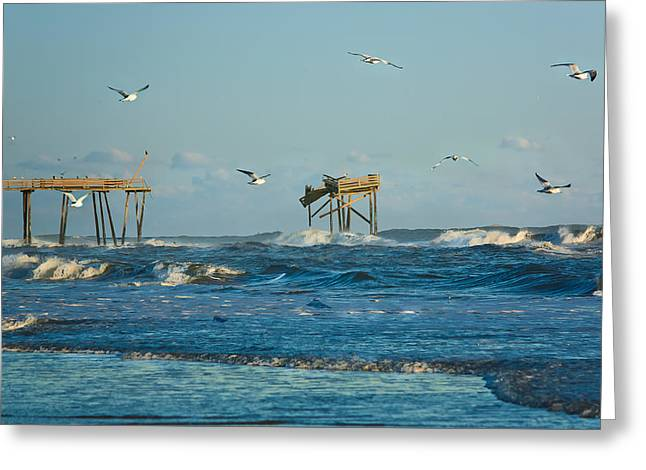 Wild Waves At Nags Head Greeting Card