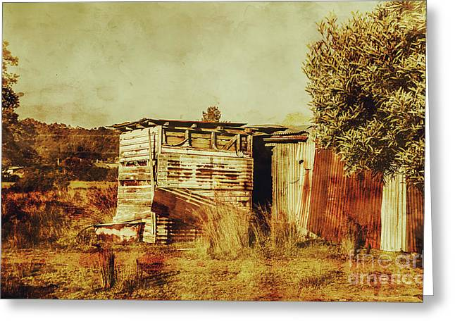 Wild West Australian Barn Greeting Card