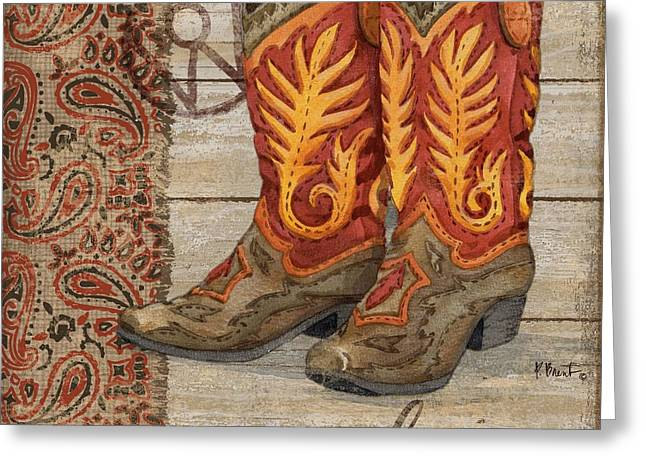 Wild West Boots I Greeting Card by Paul Brent