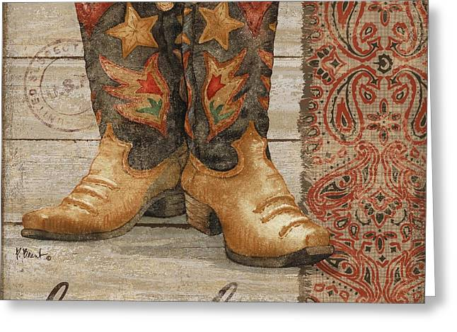 Wild West Boots II Greeting Card by Paul Brent