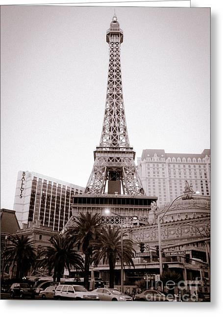 Wild West Eiffel Tower Greeting Card by Andy Smy