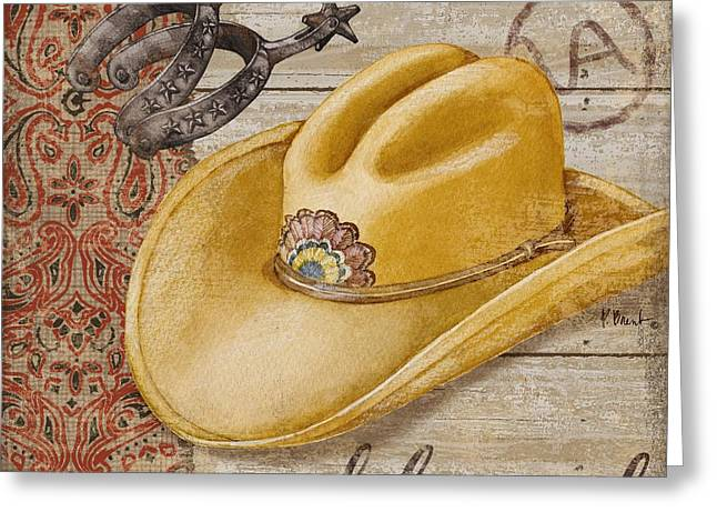 Wild West Hats II Greeting Card by Paul Brent