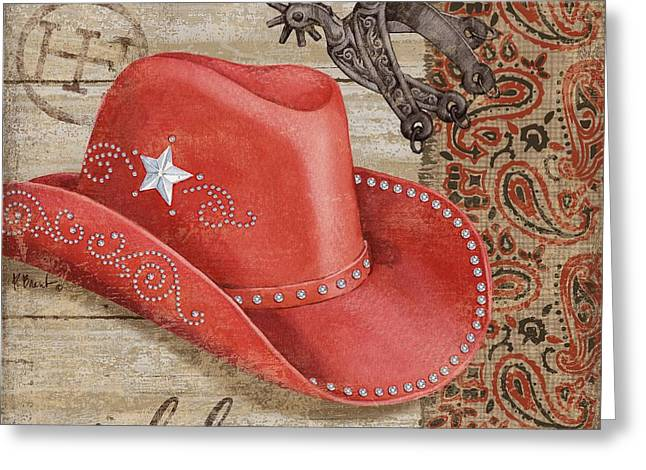 Wild West Hats IIi Greeting Card by Paul Brent