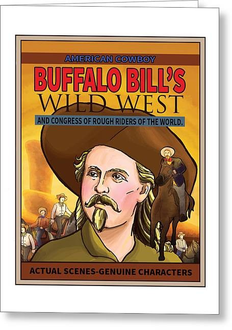 Wild West Show Poster Greeting Card by Reynold Jay