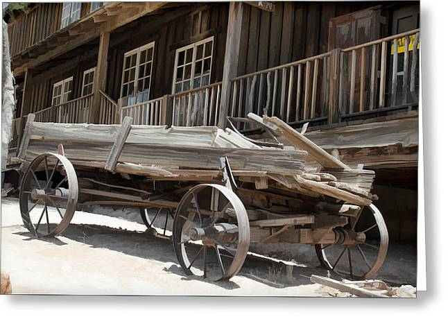 Wild West Wagon Greeting Card