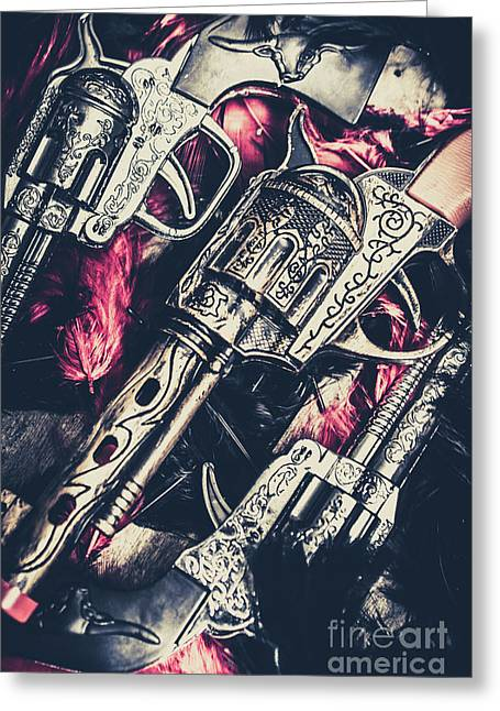 Wild West Weapons  Greeting Card by Jorgo Photography - Wall Art Gallery