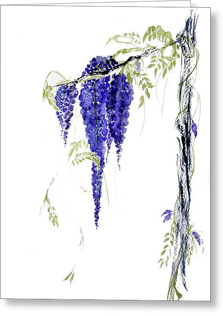 Wild Wisteria Greeting Card