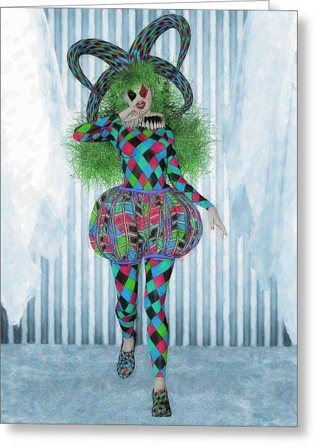 Wildcard Woman  Greeting Card by Joaquin Abella