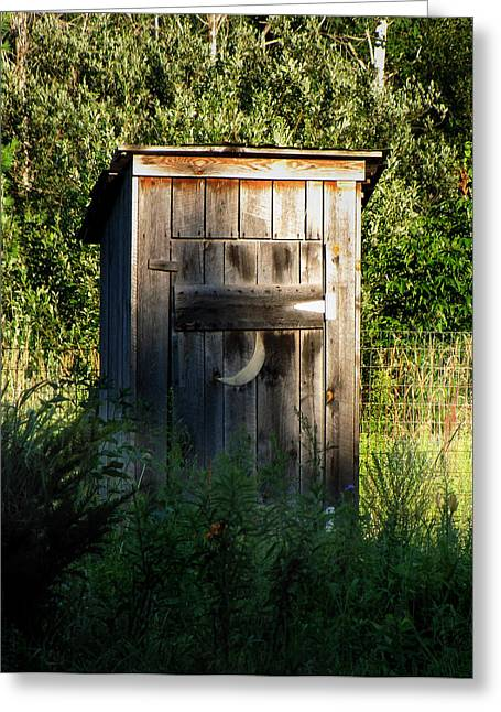 Wilderness Bathroom Greeting Card