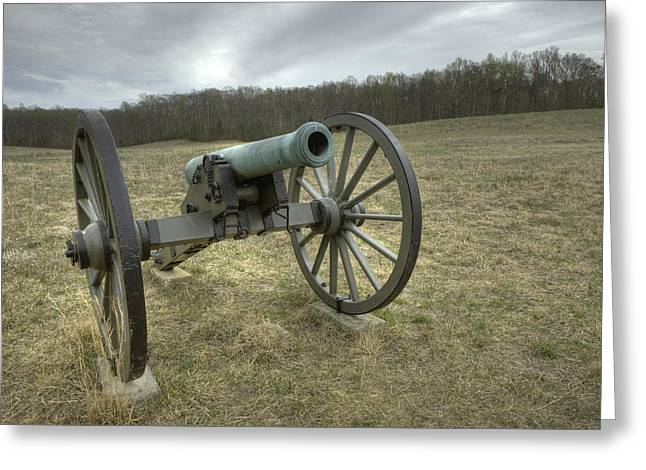 Wilderness Cannon Greeting Card by Harry H Hicklin