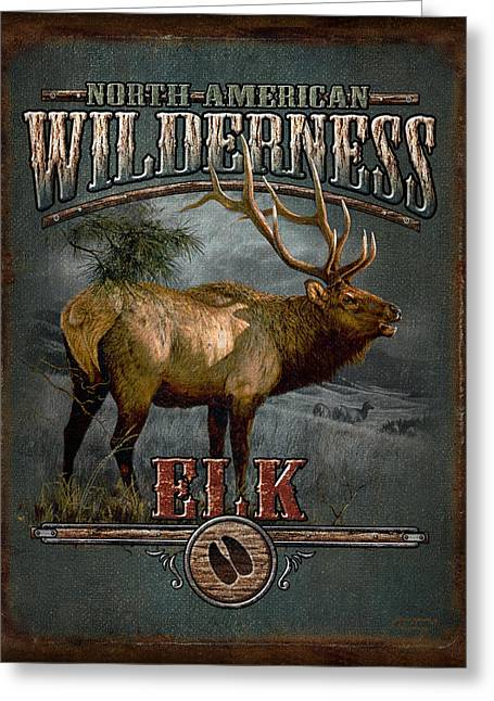Wilderness Elk Greeting Card by JQ Licensing