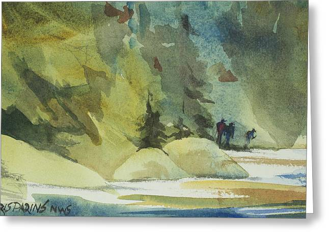 Wilderness Hike Greeting Card by Kris Parins