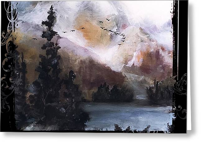 Wilderness Mountain Landscape Greeting Card by Michele Carter
