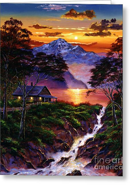 Wilderness Spirit Greeting Card by David Lloyd Glover