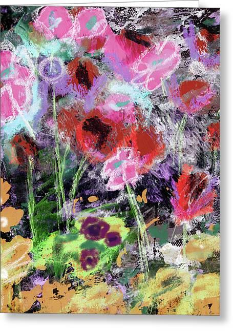 Wildest Flowers 2- Art By Linda Woods Greeting Card