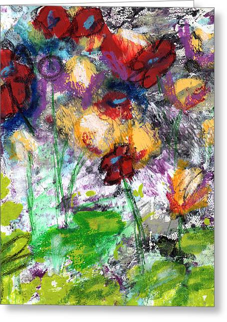 Wildest Flowers- Art By Linda Woods Greeting Card by Linda Woods