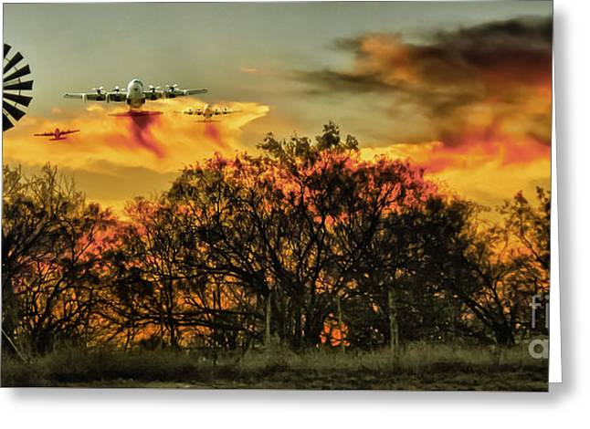 Wildfire C-130  Greeting Card
