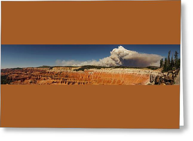 Wildfire Cedar Breaks National Monument Utah Greeting Card