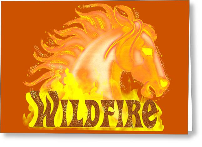 Greeting Card featuring the mixed media Wildfire by J L Meadows