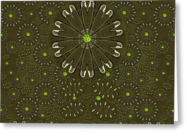 Wildfloral And Safetypins Greeting Card by Pepita Selles