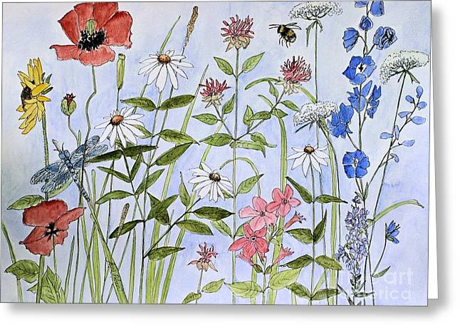 Wildflower And Blue Sky Greeting Card