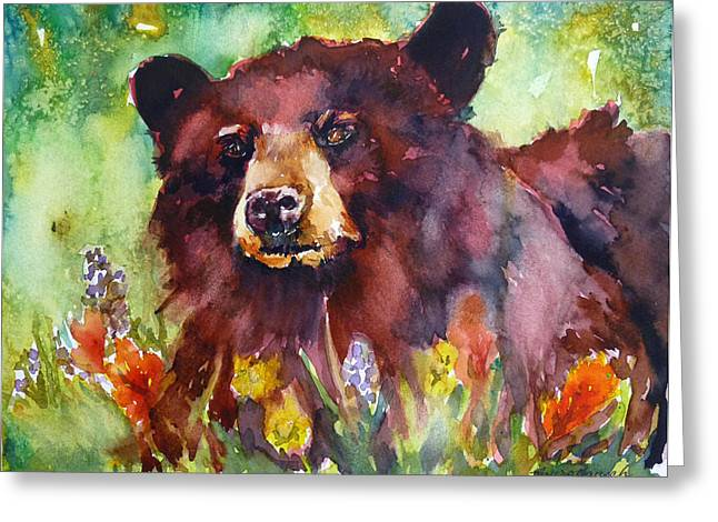 Wildflower Bear Greeting Card