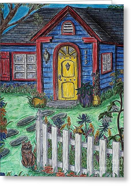 Wildflower Cottage Greeting Card